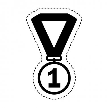 first place medal isolated icon