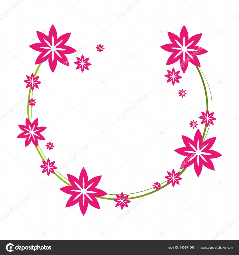 marco lindo floral decorativo — Vector de stock © yupiramos #140391568