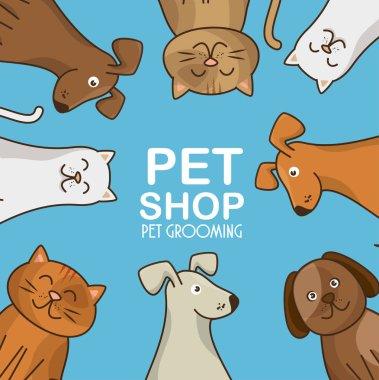 group animals pet shop