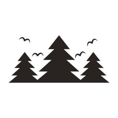 forest landscape frame emblem