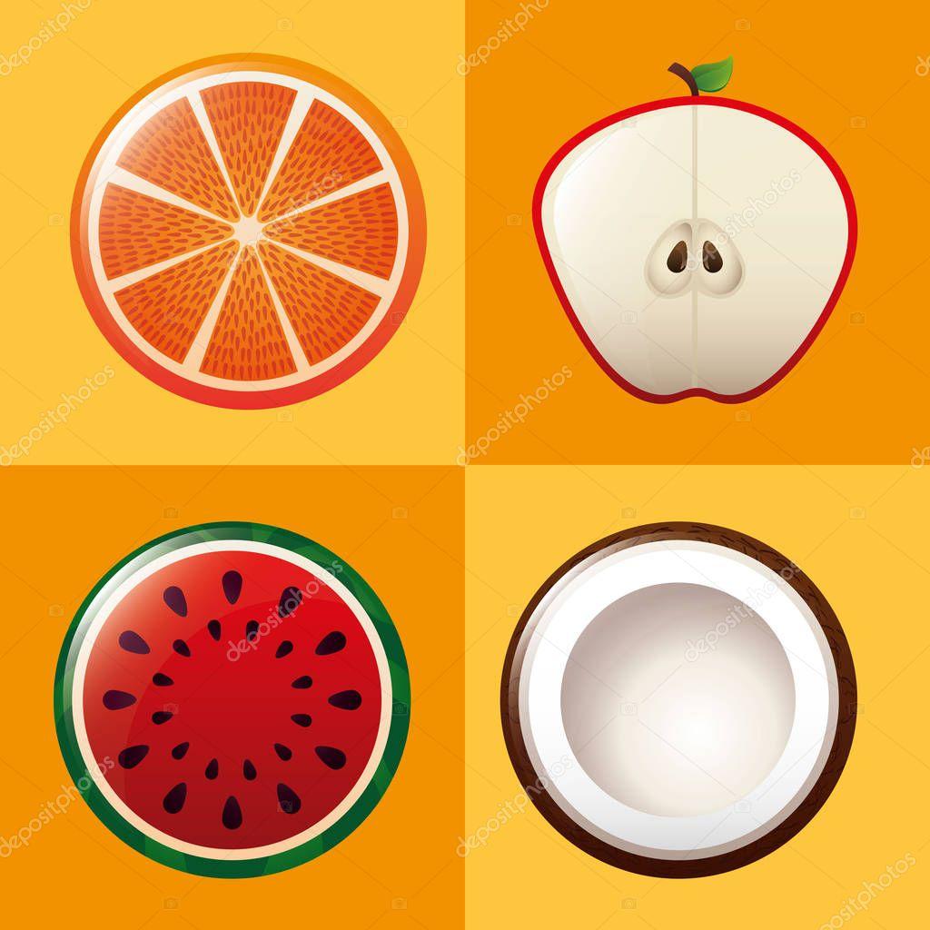 tropical fruits fresh menu