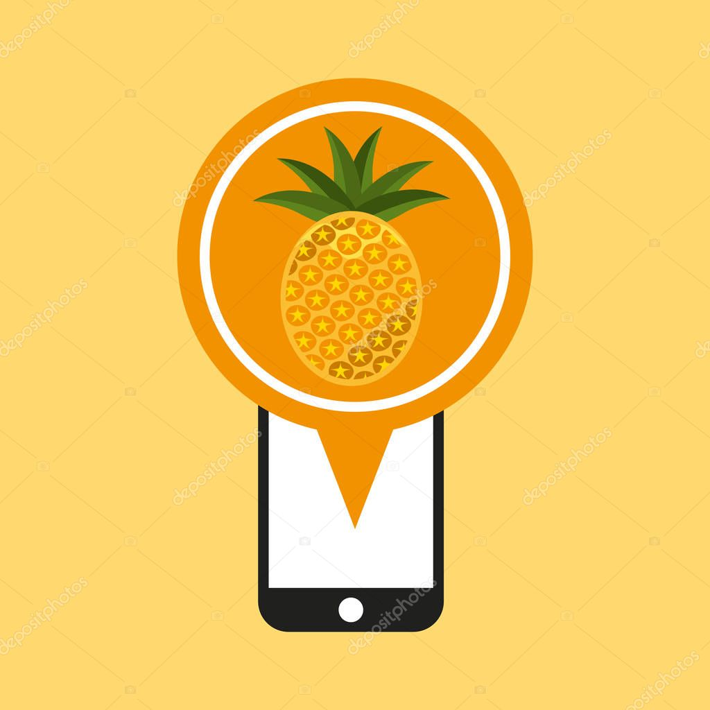 smartphone with pineapple icon