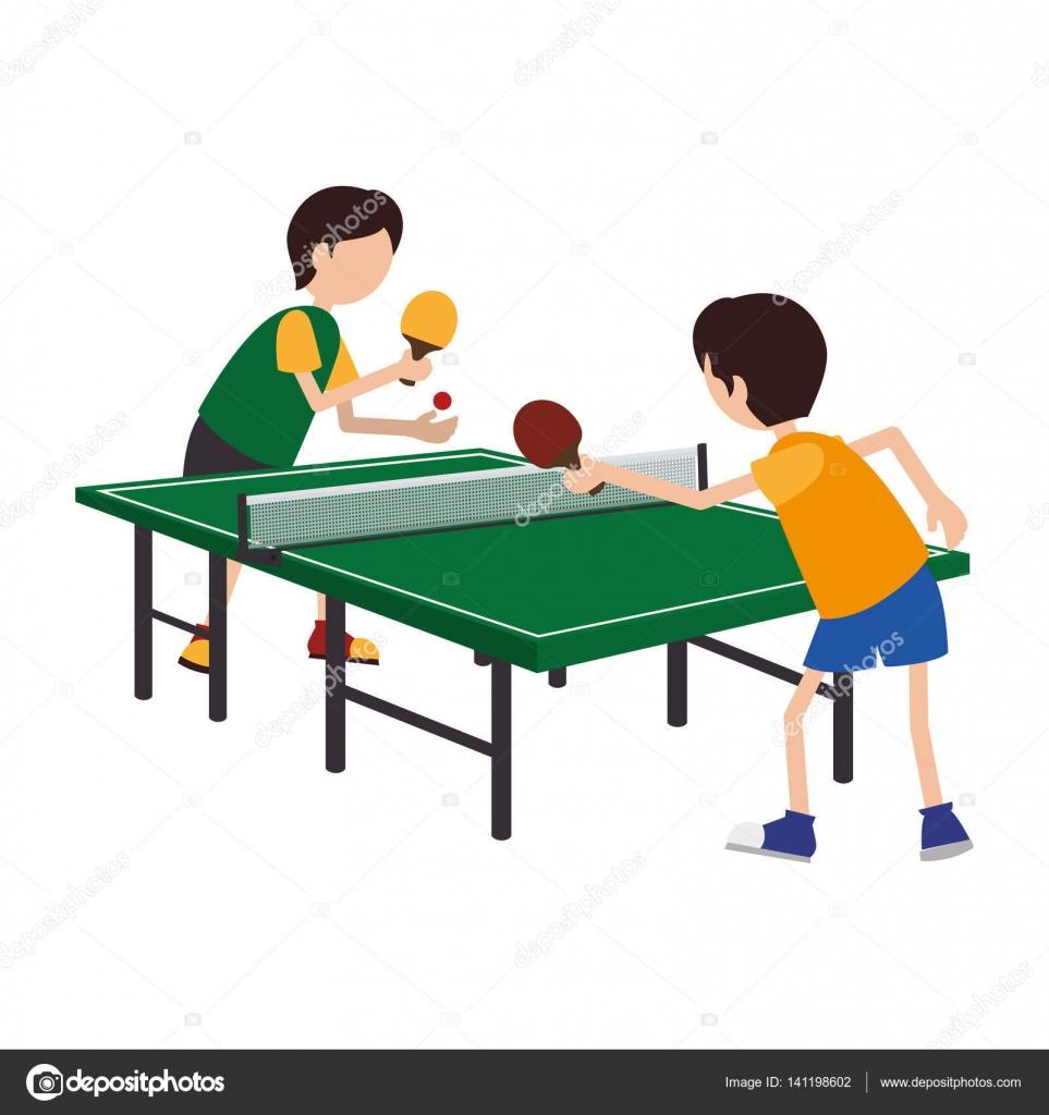 kids playing ping pong stock vector  u00a9 yupiramos 141198602 ping pong clip art images/png ping pong clipart free