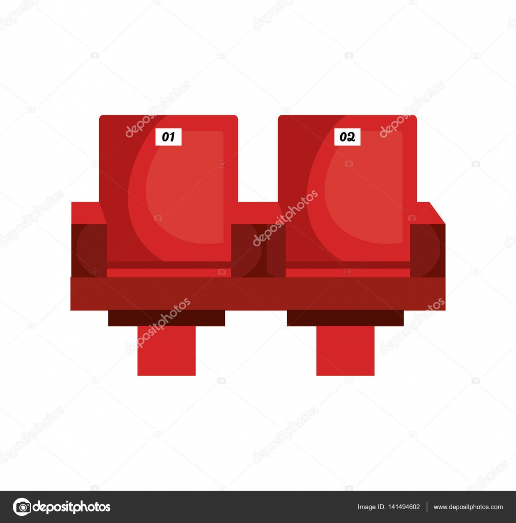 Movie theater chairs icon Stock Vector yupiramos 141494602