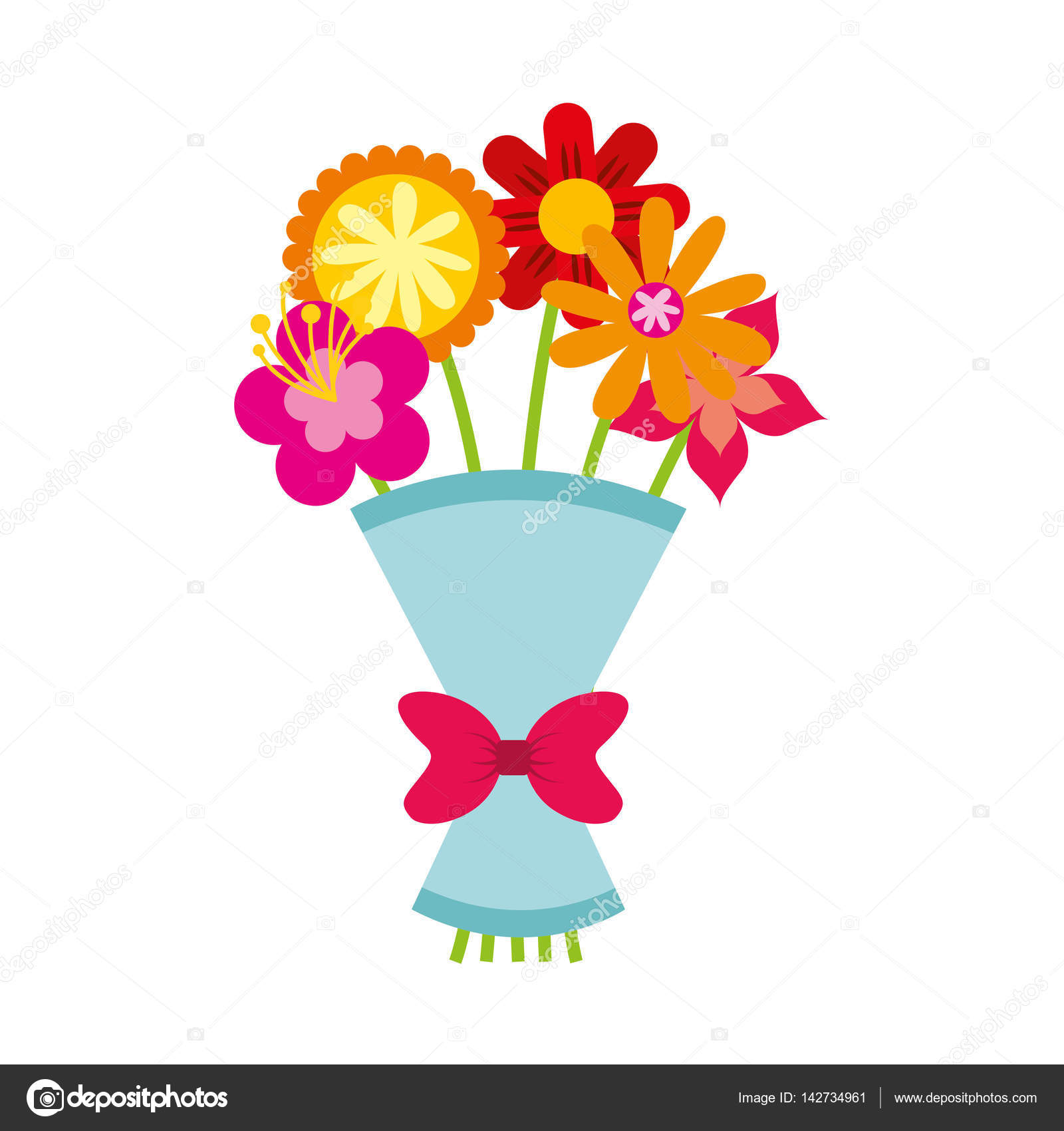 Cute bouquet of flowers nature icon stock vector yupiramos cute bouquet of flowers nature icon vector illustration design vector by yupiramos izmirmasajfo
