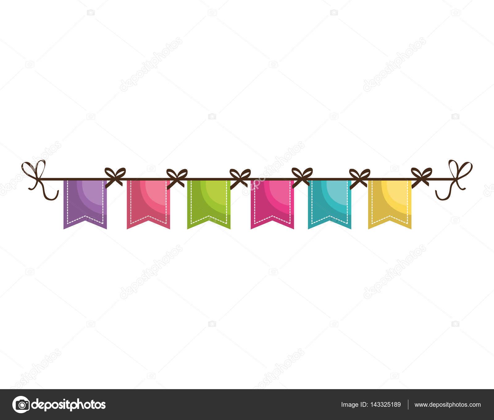 Icono de la decoraci n de guirnaldas de fiesta vector de - Guirnaldas para fiestas infantiles ...