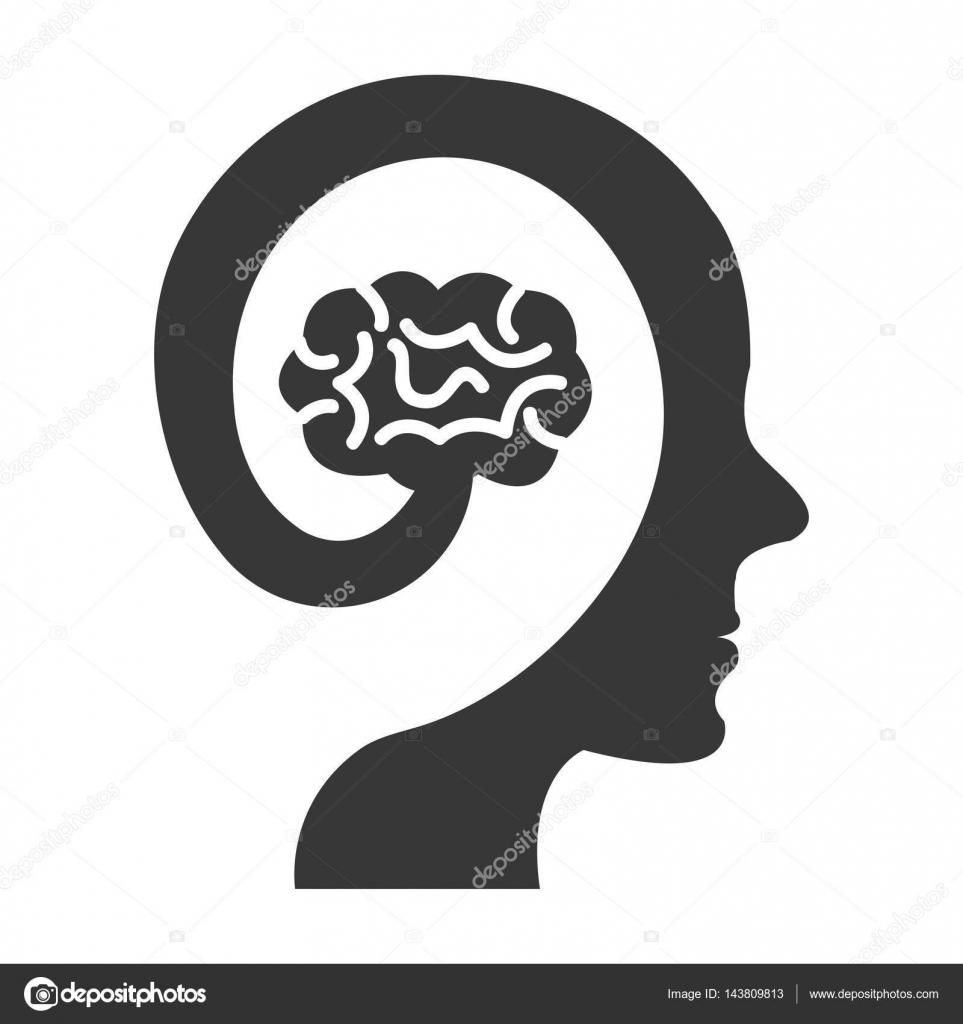 Gehirn-Sturm-Organ des Menschen-Symbol — Stockvektor © yupiramos ...