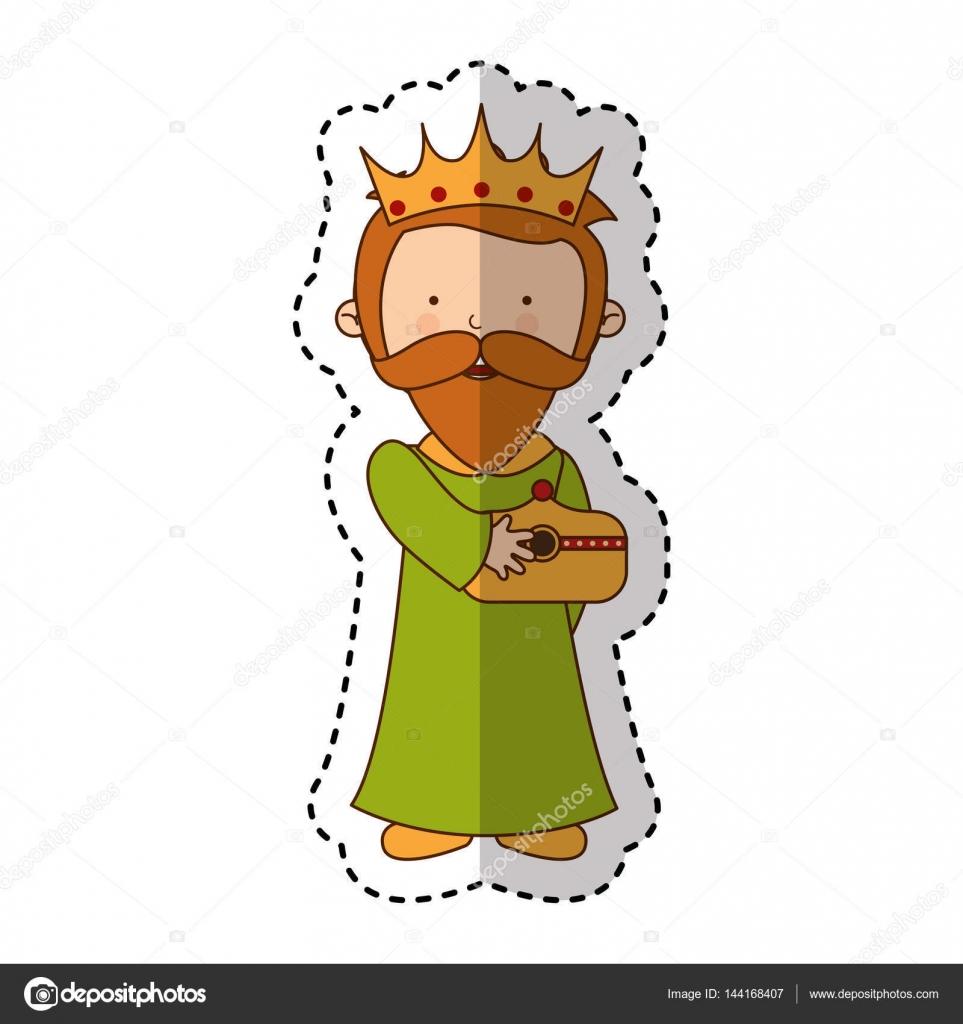 weiser Mann Krippe Charakter — Stockvektor © yupiramos #144168407
