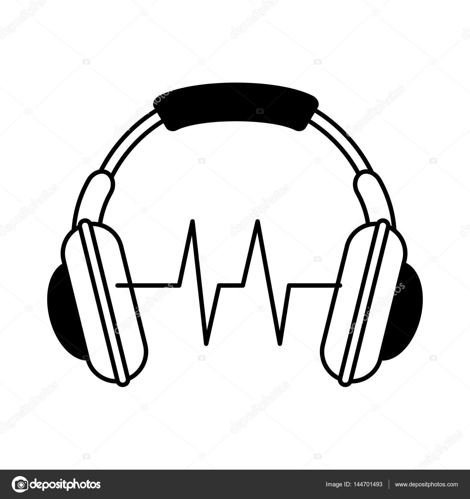 Kopfhörer-audio-Gerät-Symbol — Stockvektor © yupiramos #144701493