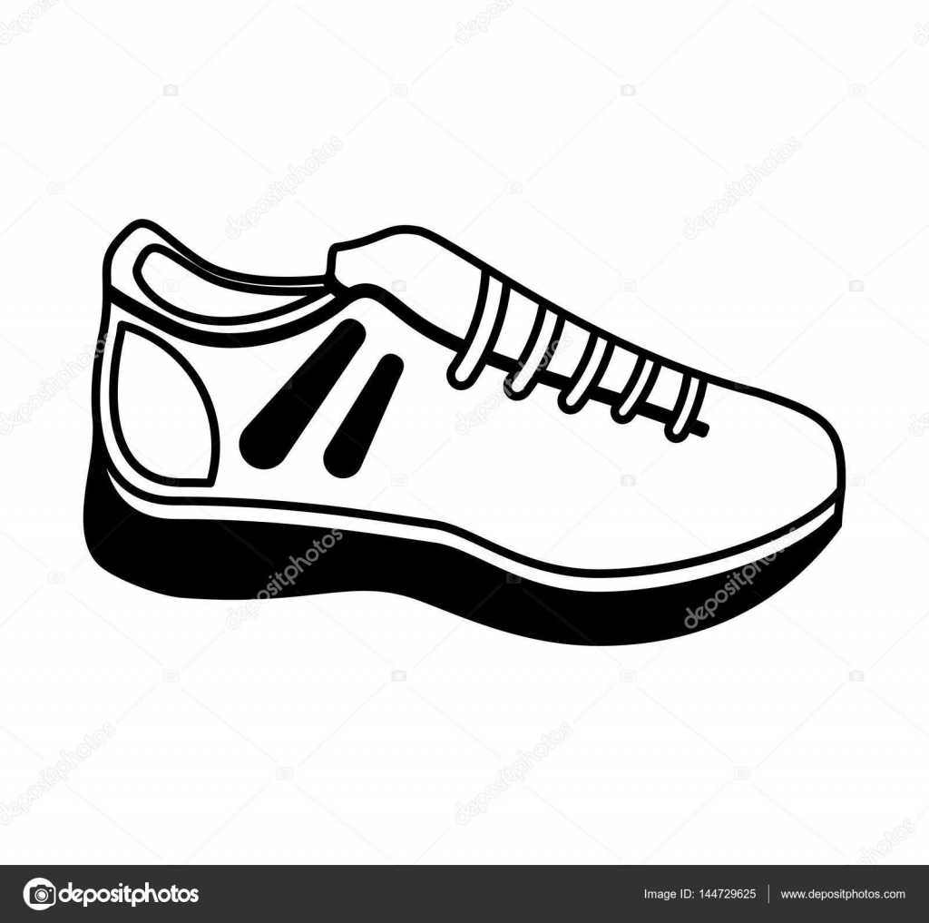 tennis shoes isolated icon stock vector yupiramos 144729625 rh depositphotos com free tennis shoe vector Nike Shoe Vector