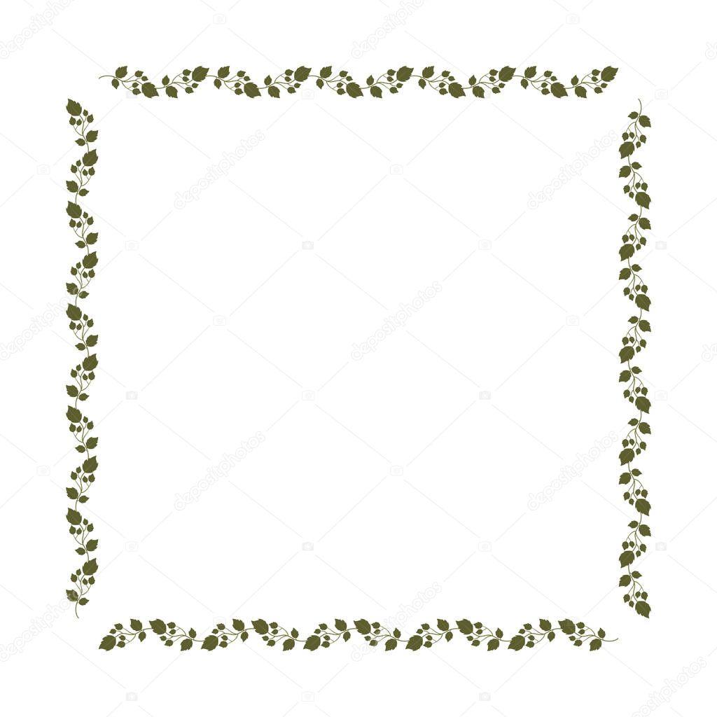 decorative square frame floral