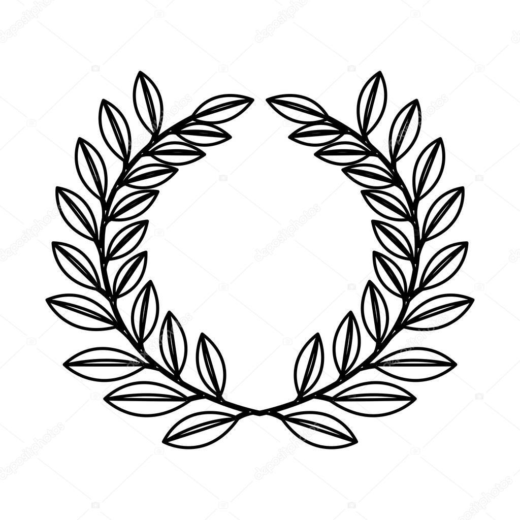 wreath leafs crown icon