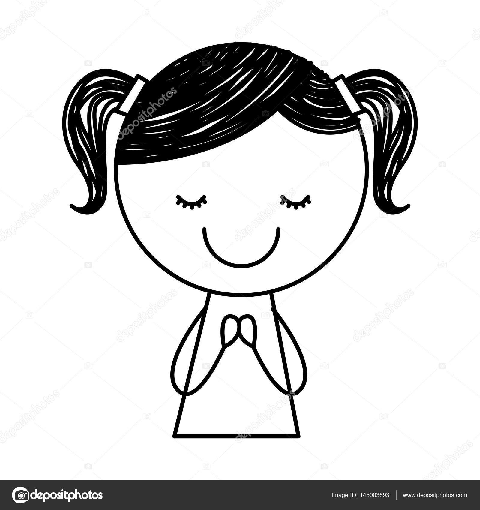 Mignon petit personnage de dessin fille image vectorielle yupiramos 145003693 - Dessins de filles ...