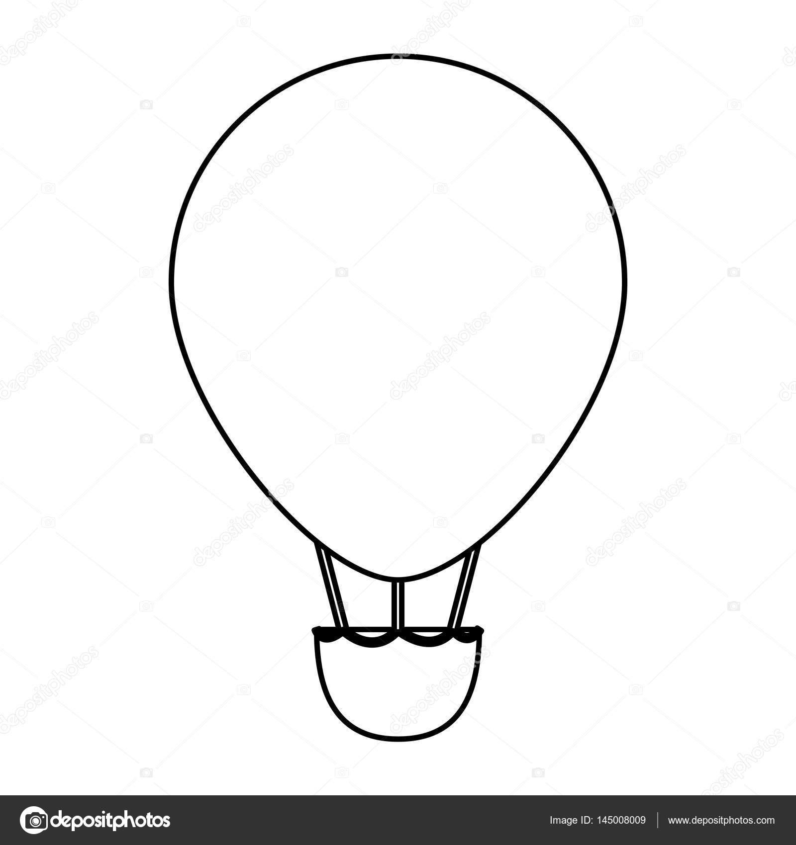 Uçan Balon Hava Sıcak Stok Vektör Yupiramos 145008009