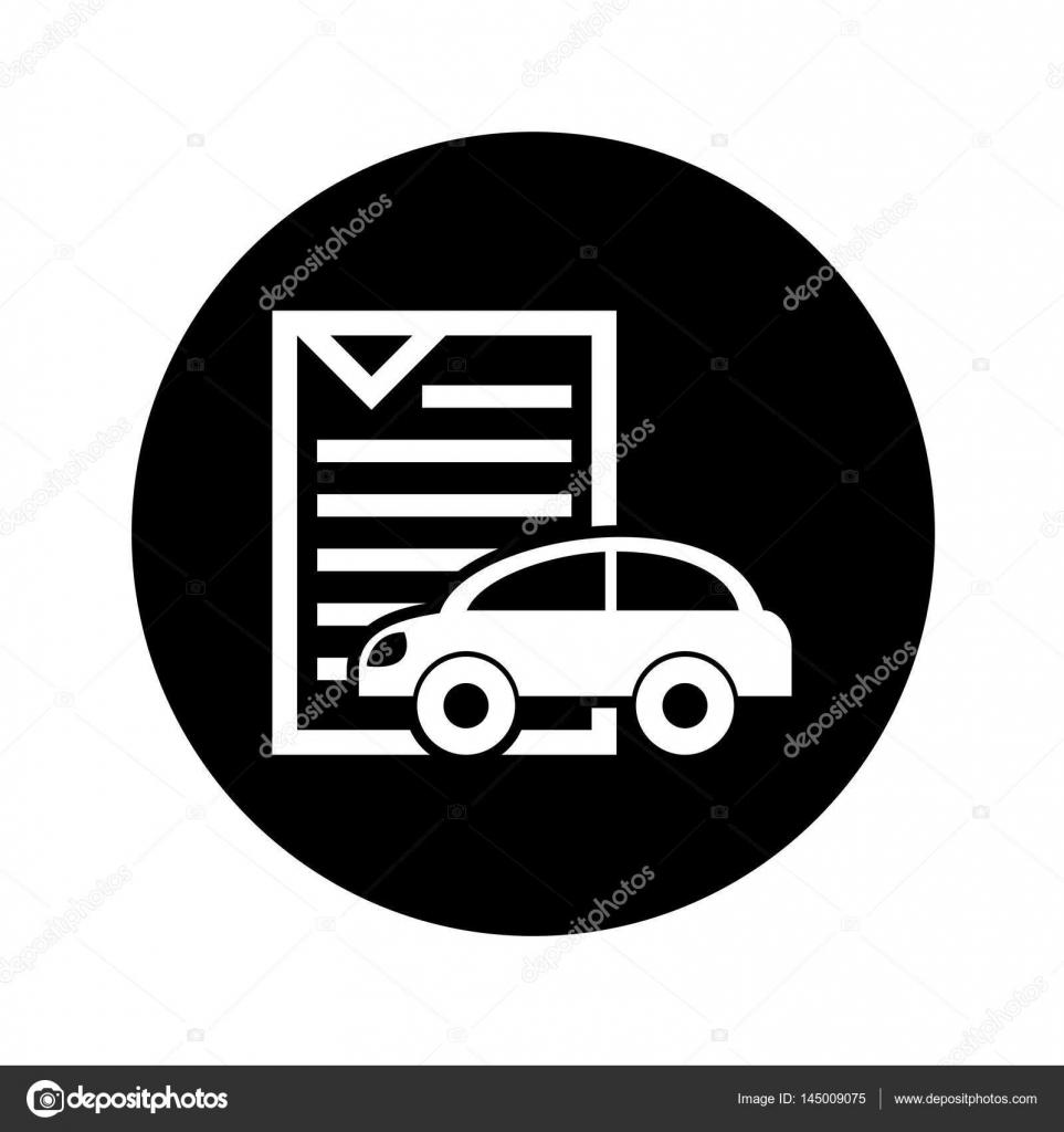 ドキュメント アイコンの車車シルエット ストックベクター Yupiramos