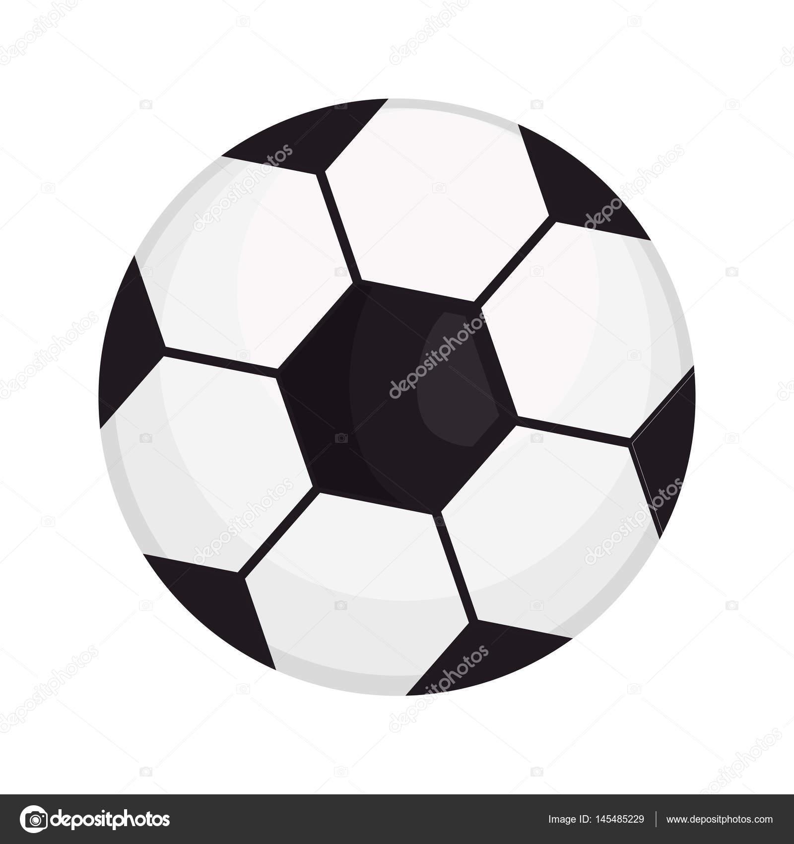 Fussball Ballon Isoliert Symbol Stockvektor C Yupiramos