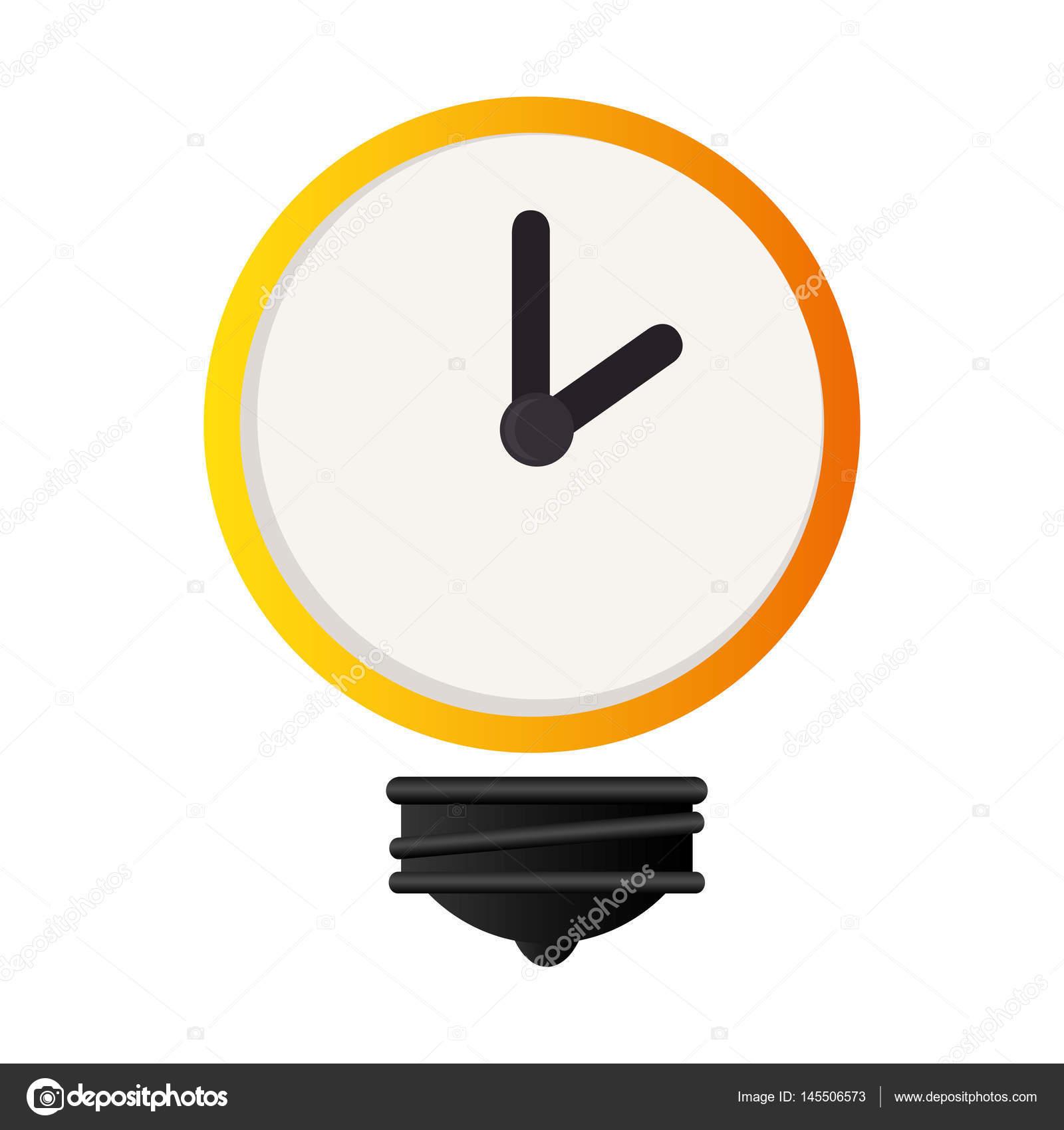 Lampe mit Zeitschaltuhr isolierten Symbol — Stockvektor © yupiramos ...