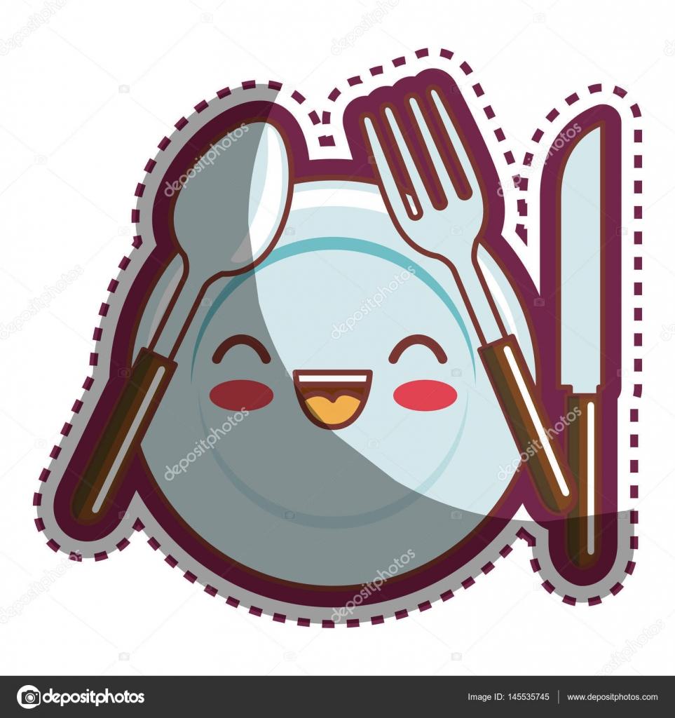 Küchenutensilien cartoon Charakter — Stockvektor © yupiramos #145535745