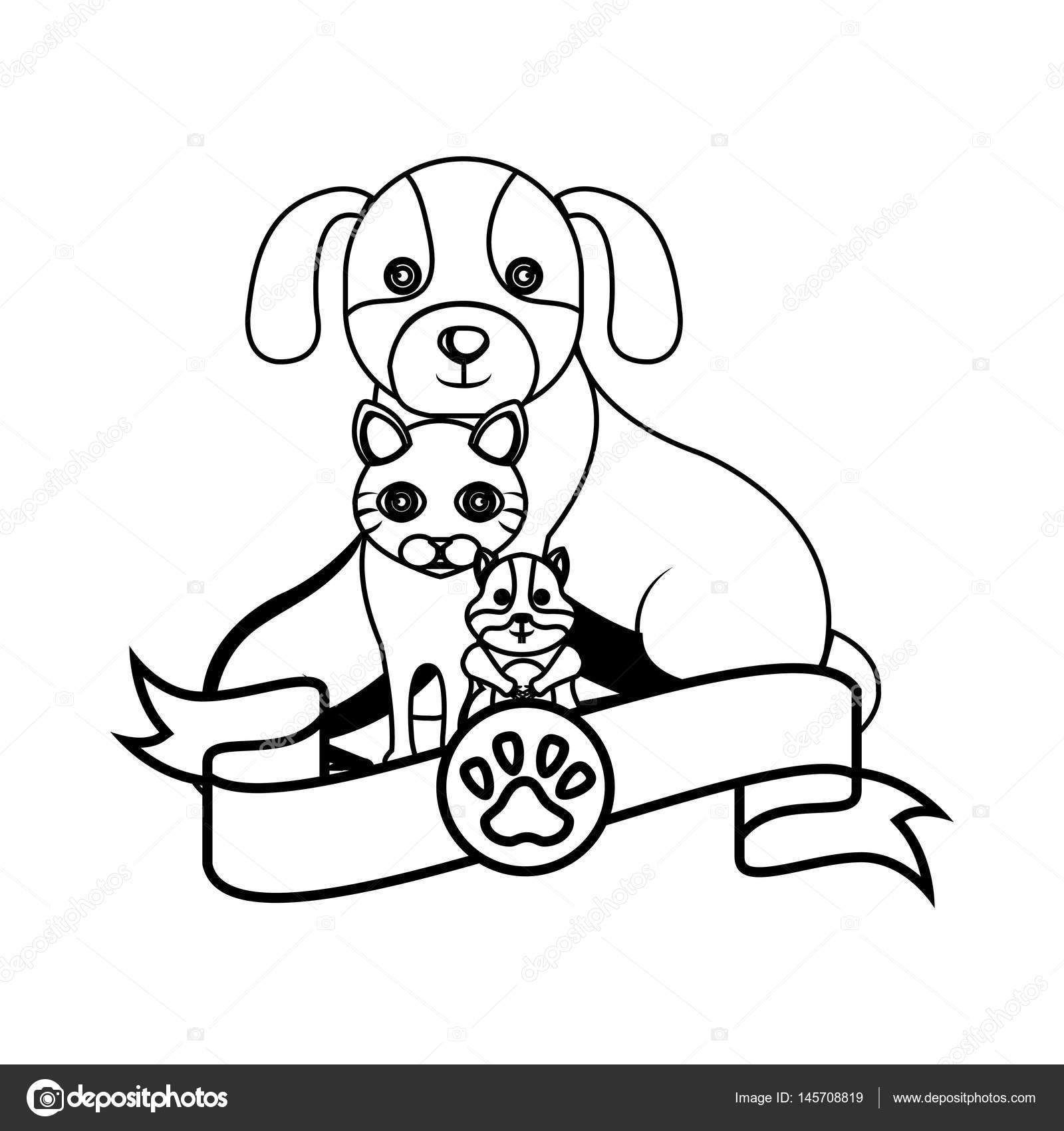 Grupo de mascotas centro veterinario — Vector de stock © yupiramos ...