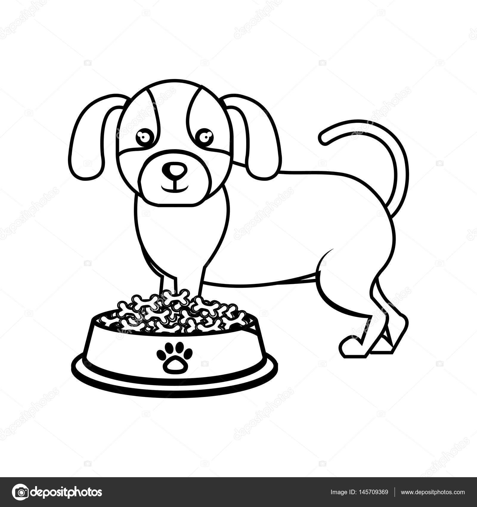 Cute Doggy Haustier Symbol — Stockvektor © yupiramos #145709369
