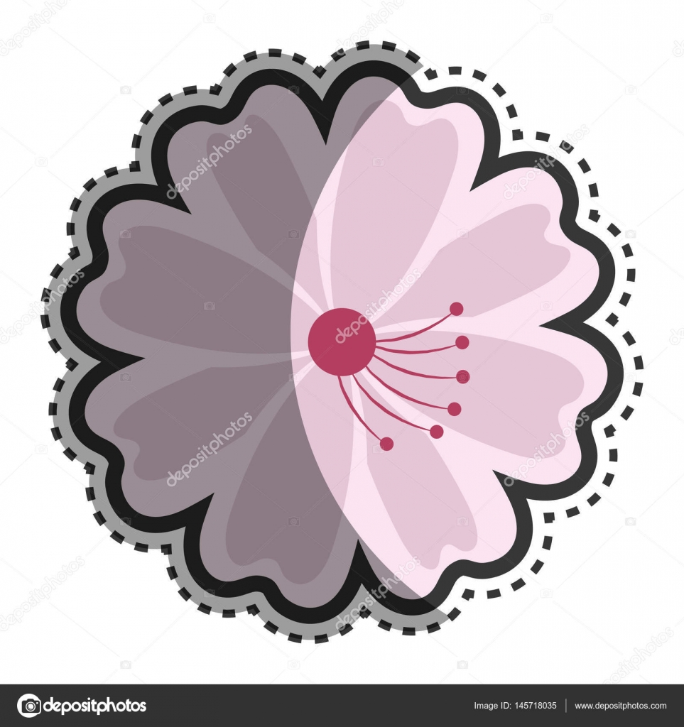 Lotus Flower Japanese Culture Isolated Icon Stock Vector
