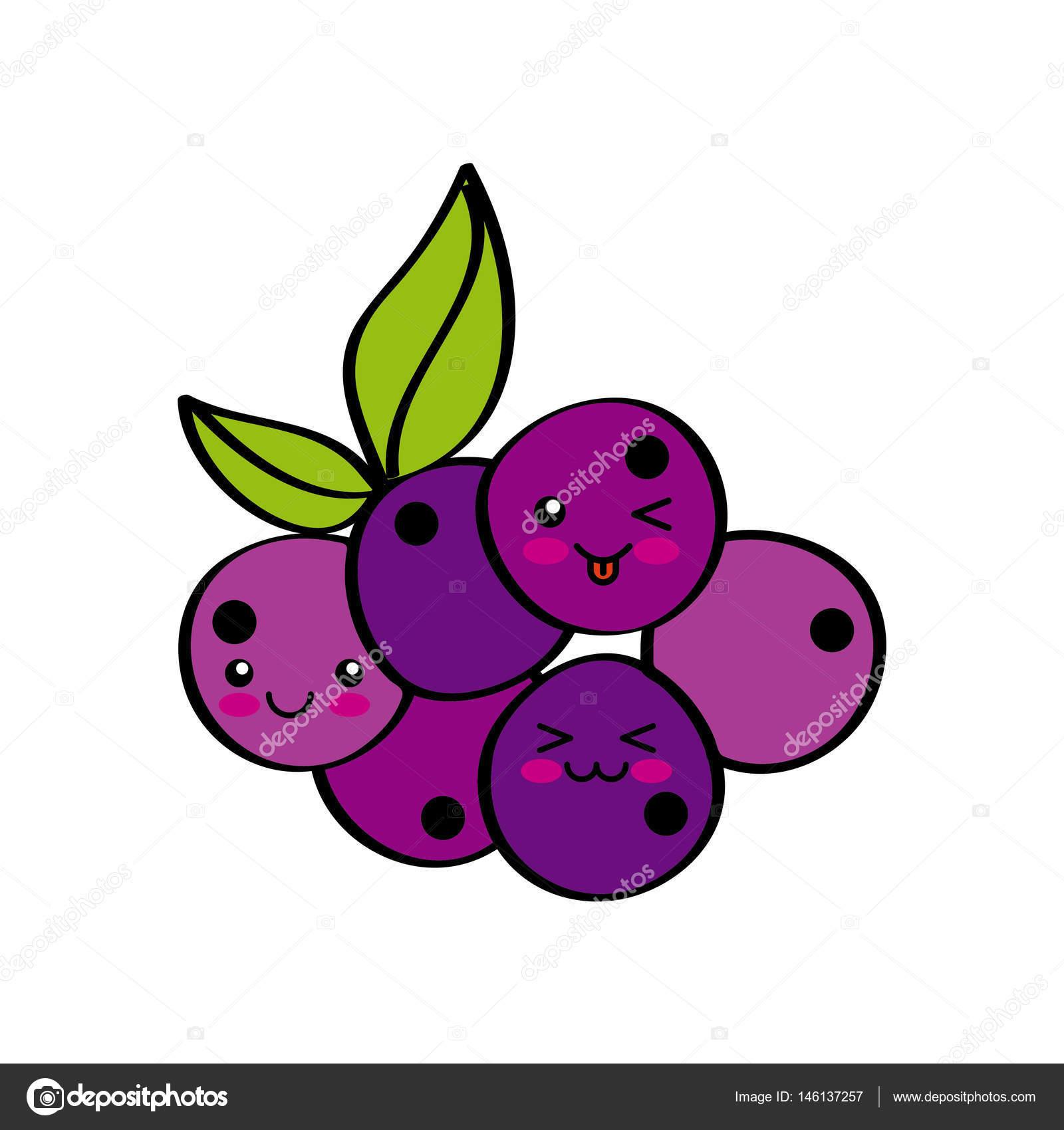 Kawaii Früchte Design Stockvektor Yupiramos 146137257
