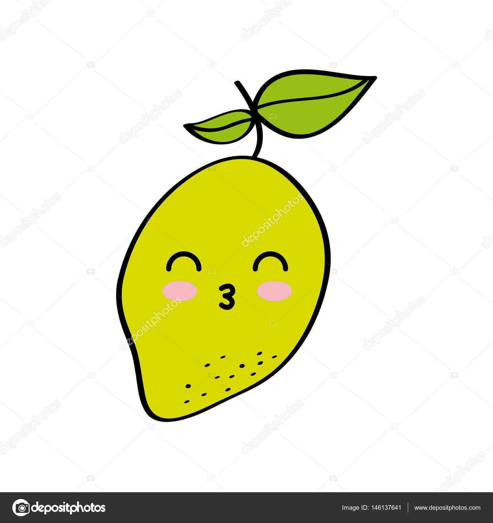 Desenho De Frutas Kawaii Vetor De Stock Yupiramos 146137641