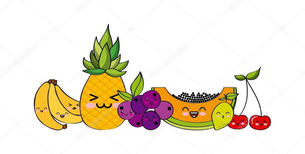 kawaii fruits design