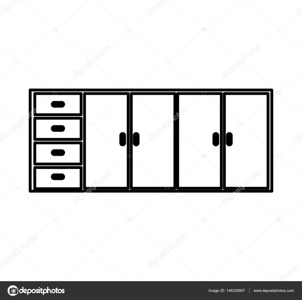 Gabinete de cocina icono aislado — Archivo Imágenes Vectoriales ...