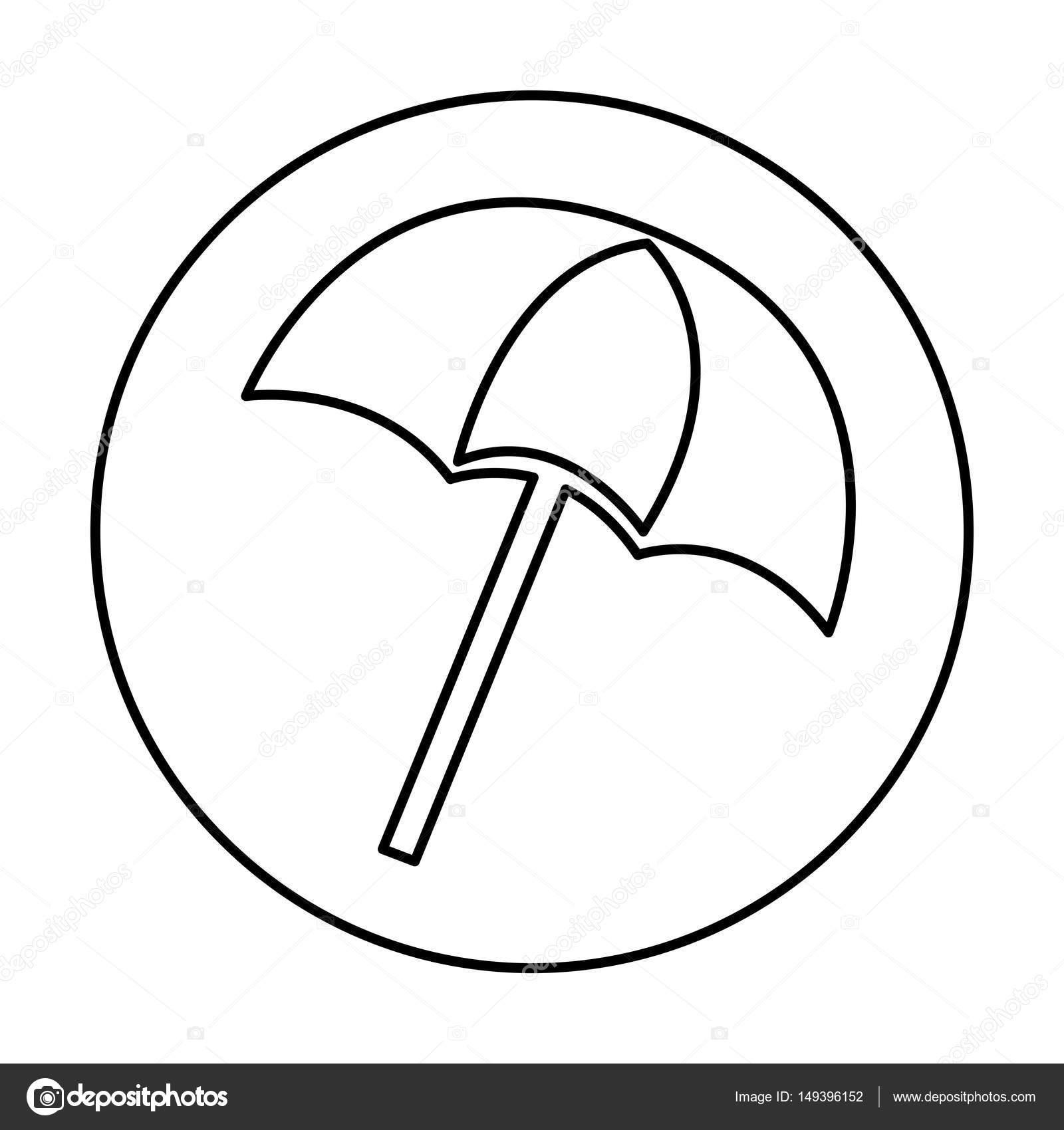 icono aislado de la sombrilla de playa — Vector de stock © yupiramos ...
