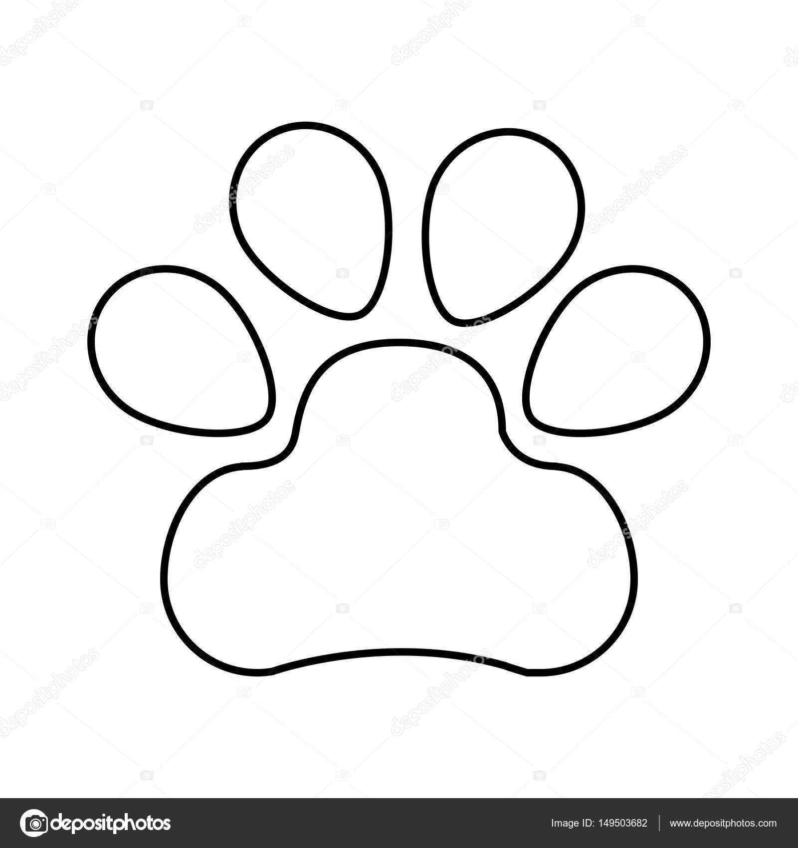 Dibujos Huellita De Perro Icono Aislado De Huella De Perro