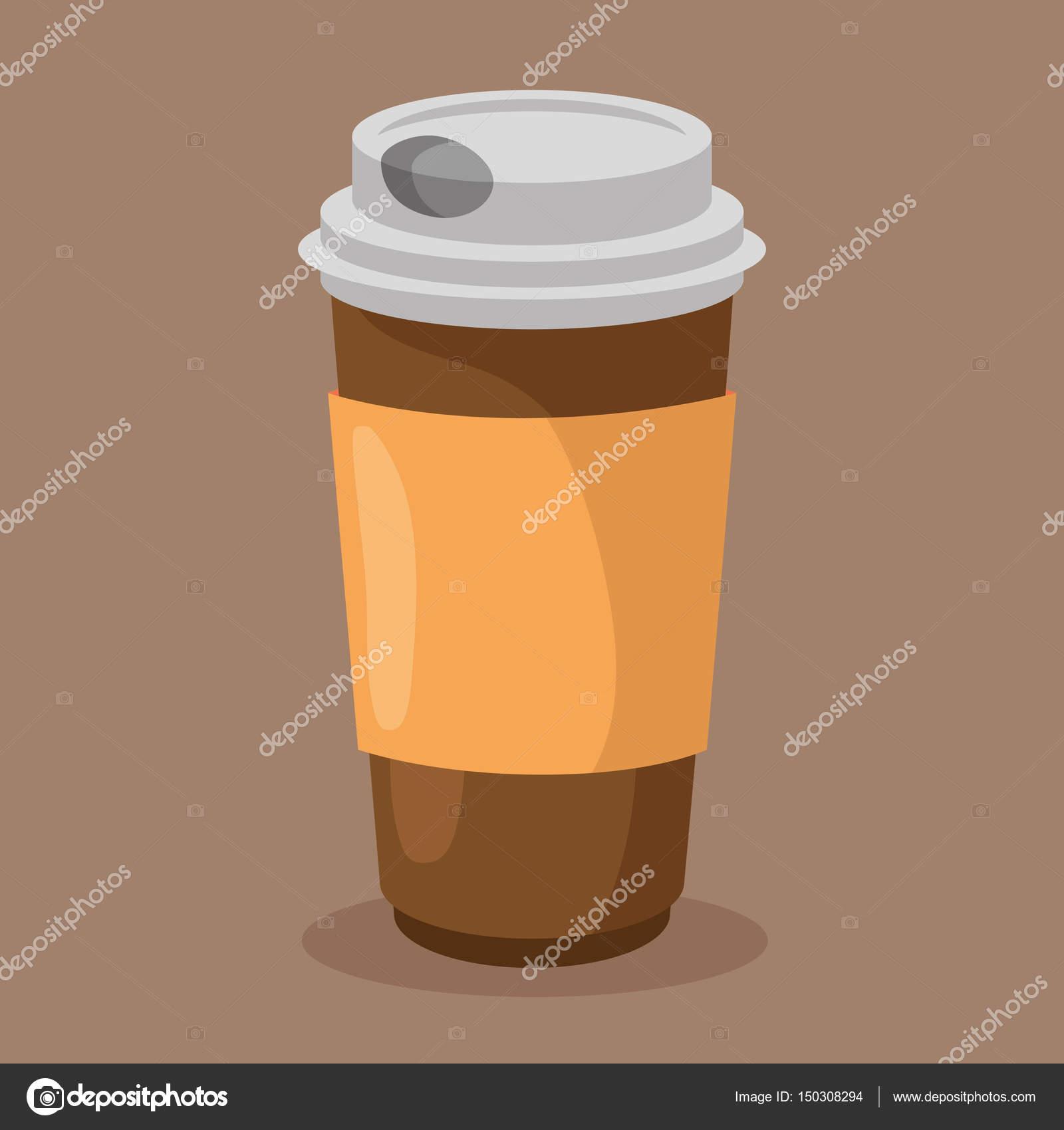 Kaffee-Getränke-Container-Symbol — Stockvektor © yupiramos #150308294