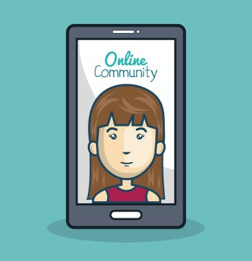 character and smartphone online community design isolated