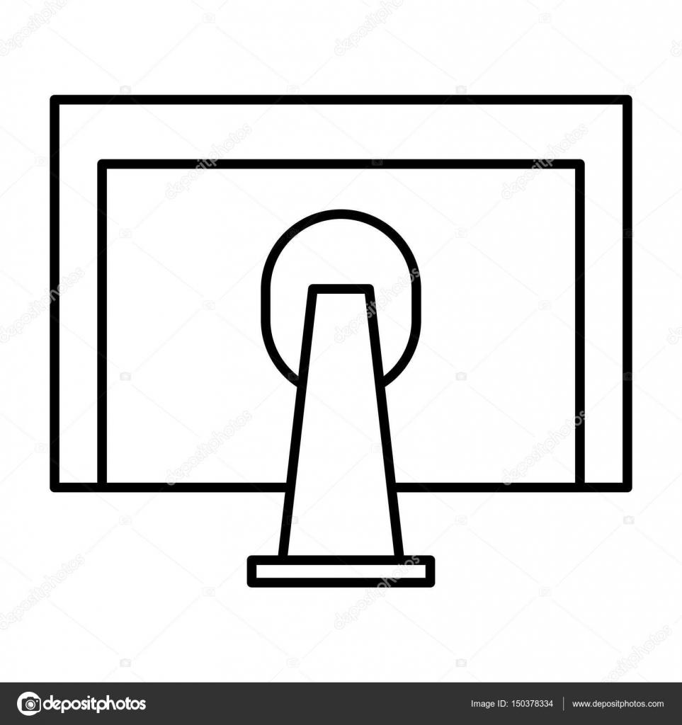 Monitor Computer Desktop Icon Stock Vector Yupiramos 150378334