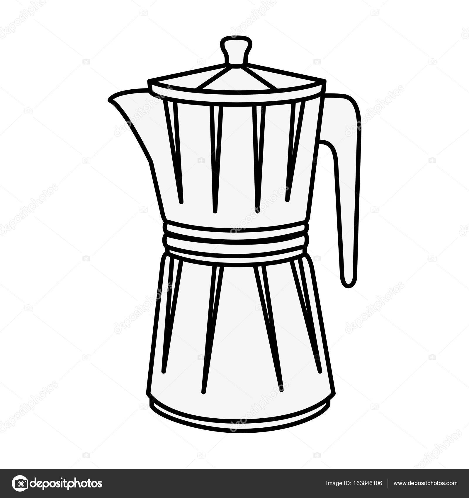 Italian Coffee Maker Icon Stock Vector