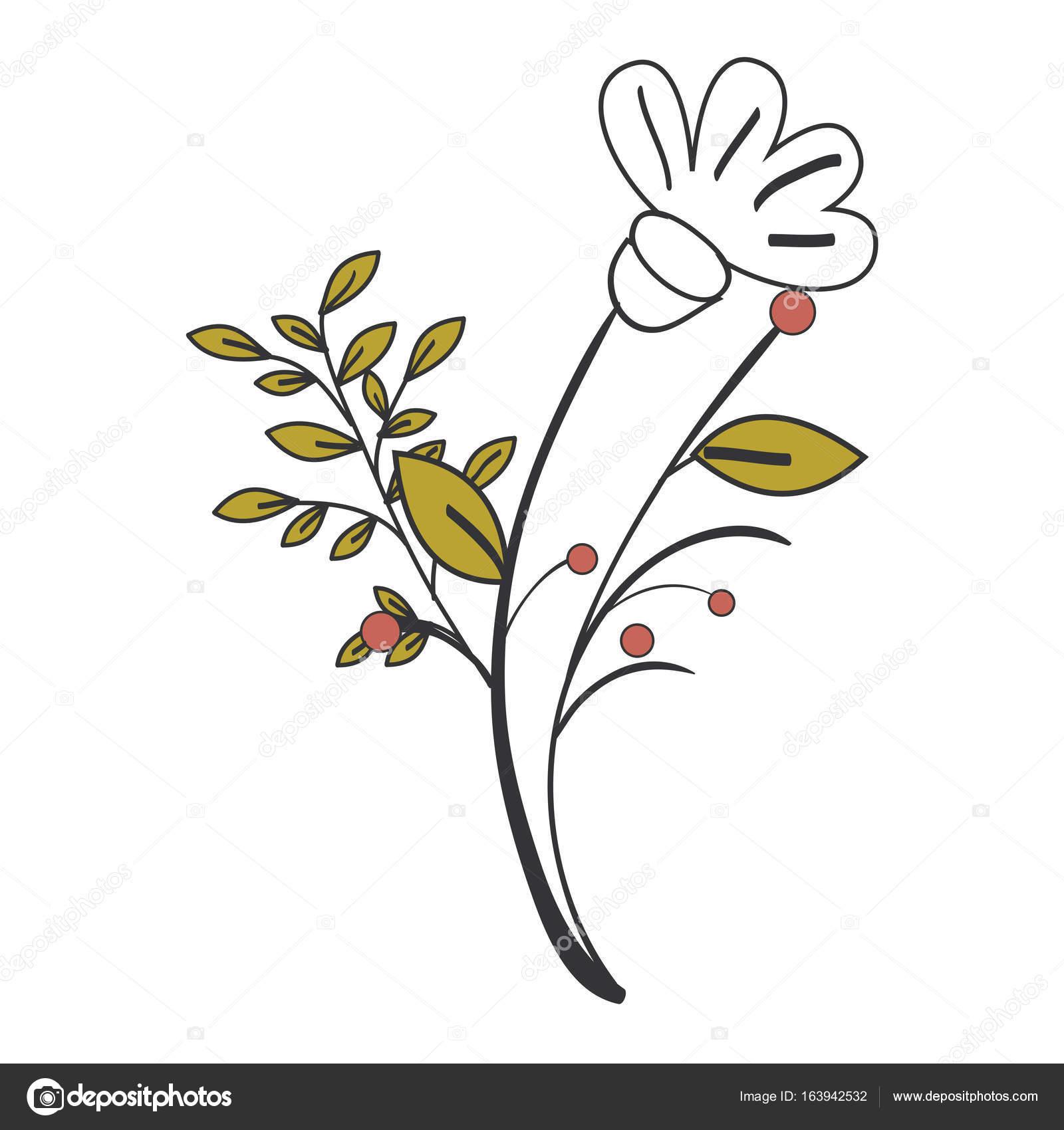 Naturals Flowers Tattoos Stock Vector Yupiramos 163942532