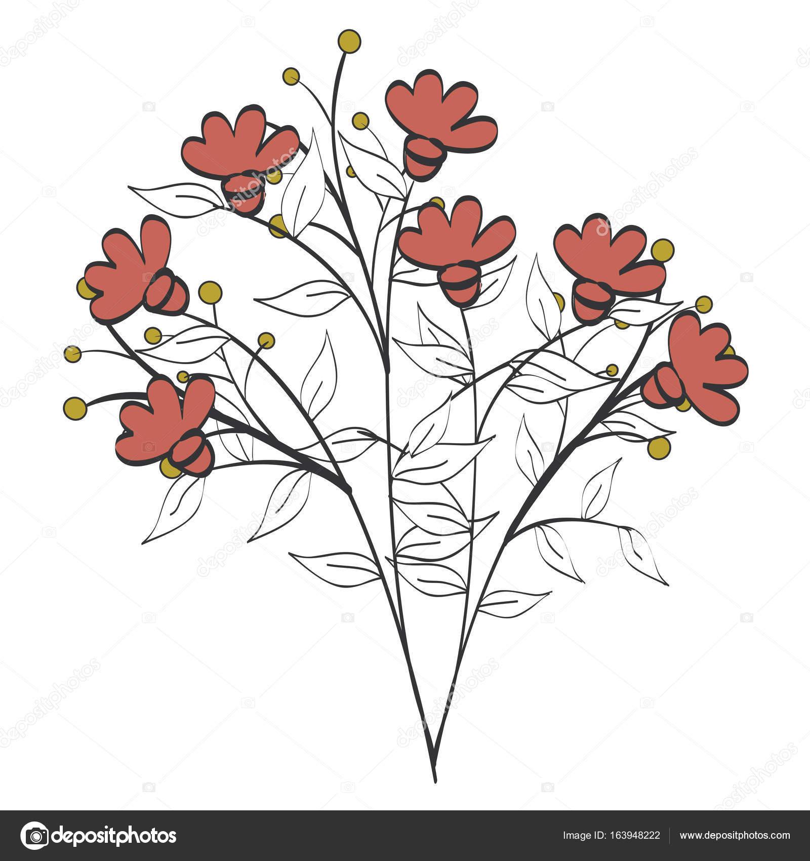 naturals flowers tattoos — Stock Vector © yupiramos #163948222