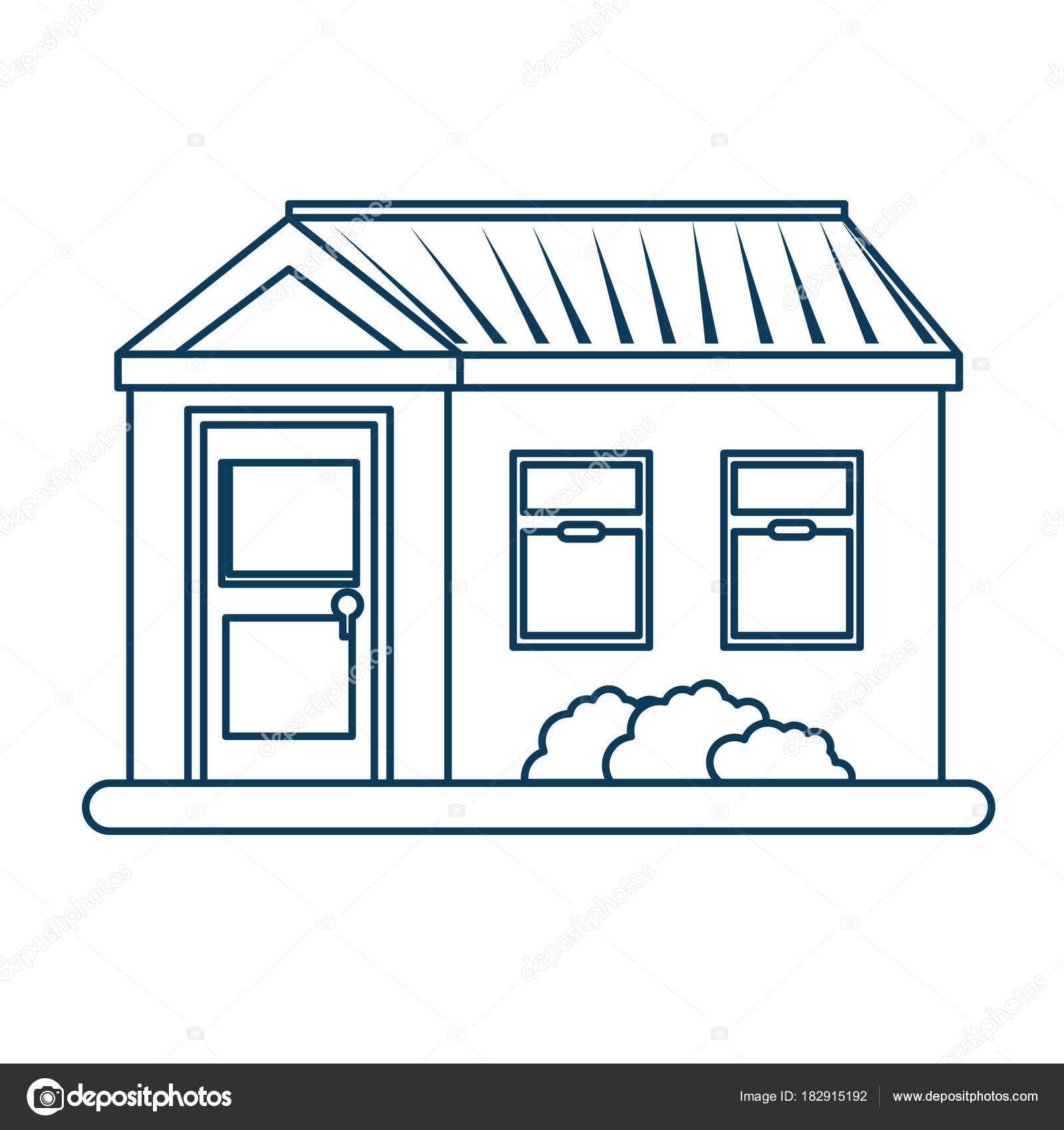 nettes Haus außen Symbol — Stockvektor © yupiramos #182915192