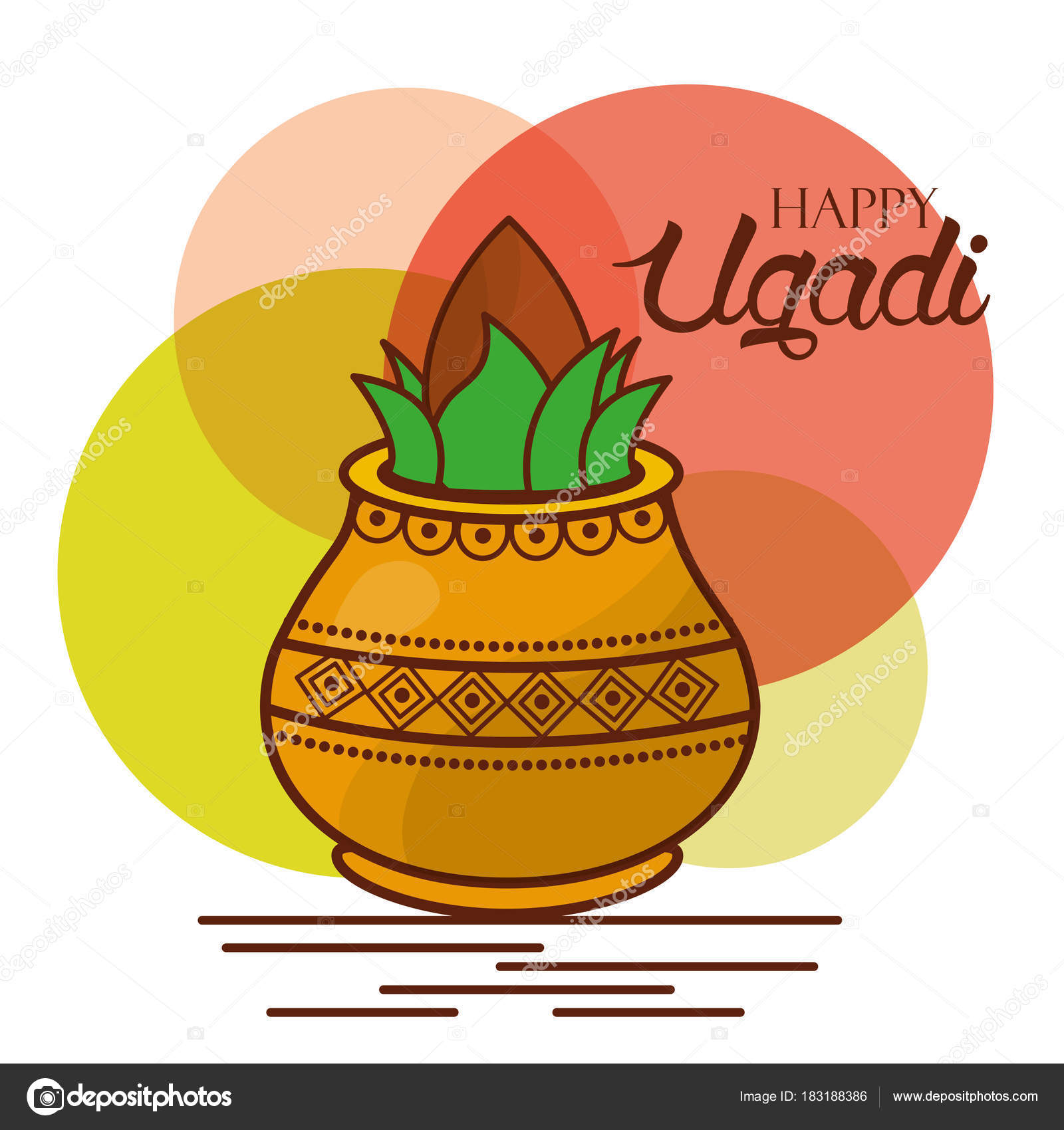 Happy ugadi greeting card celebration festival stock vector happy ugadi greeting card celebration festival stock vector kristyandbryce Images
