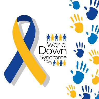 world down syndrome day greeting card symbolic color campaign