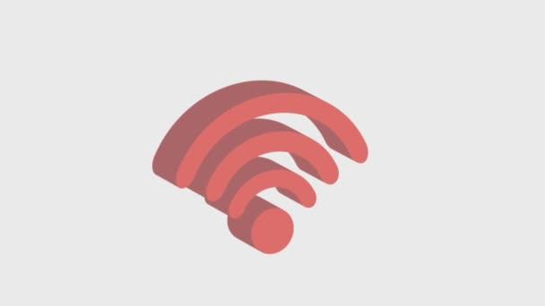 Tumbling 3D-Icons WiFi
