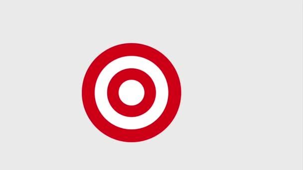 Bullseye vagy a cél és a nyíl ikonok ütő