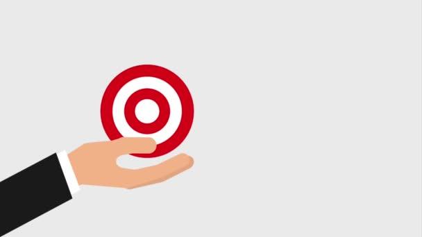 bullseye or target and arrow hitting icons