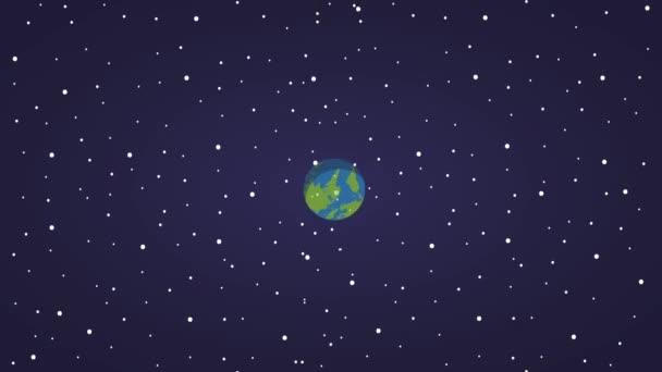 planeta Země v kosmickém prostoru ikony