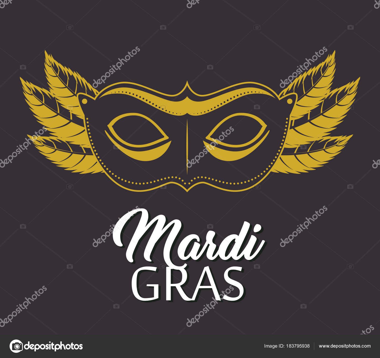 6aa0ce38e Mardi gras nápisy plakát s transparentem, karneval maska vektorová  ilustrace grafický design — Vektor od ...