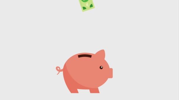 peníze, účty spadající pod prasátko ikony