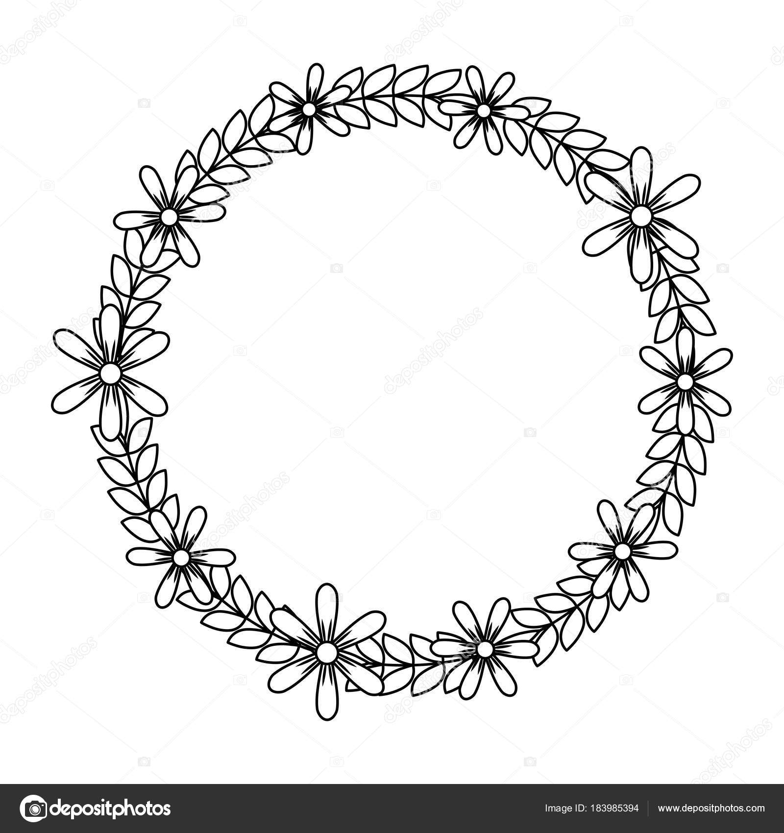 Beautiful floral wreath with spring flowers leaves stock vector beautiful floral wreath with spring flowers leaves vector illustration outline image vector by yupiramos mightylinksfo Gallery