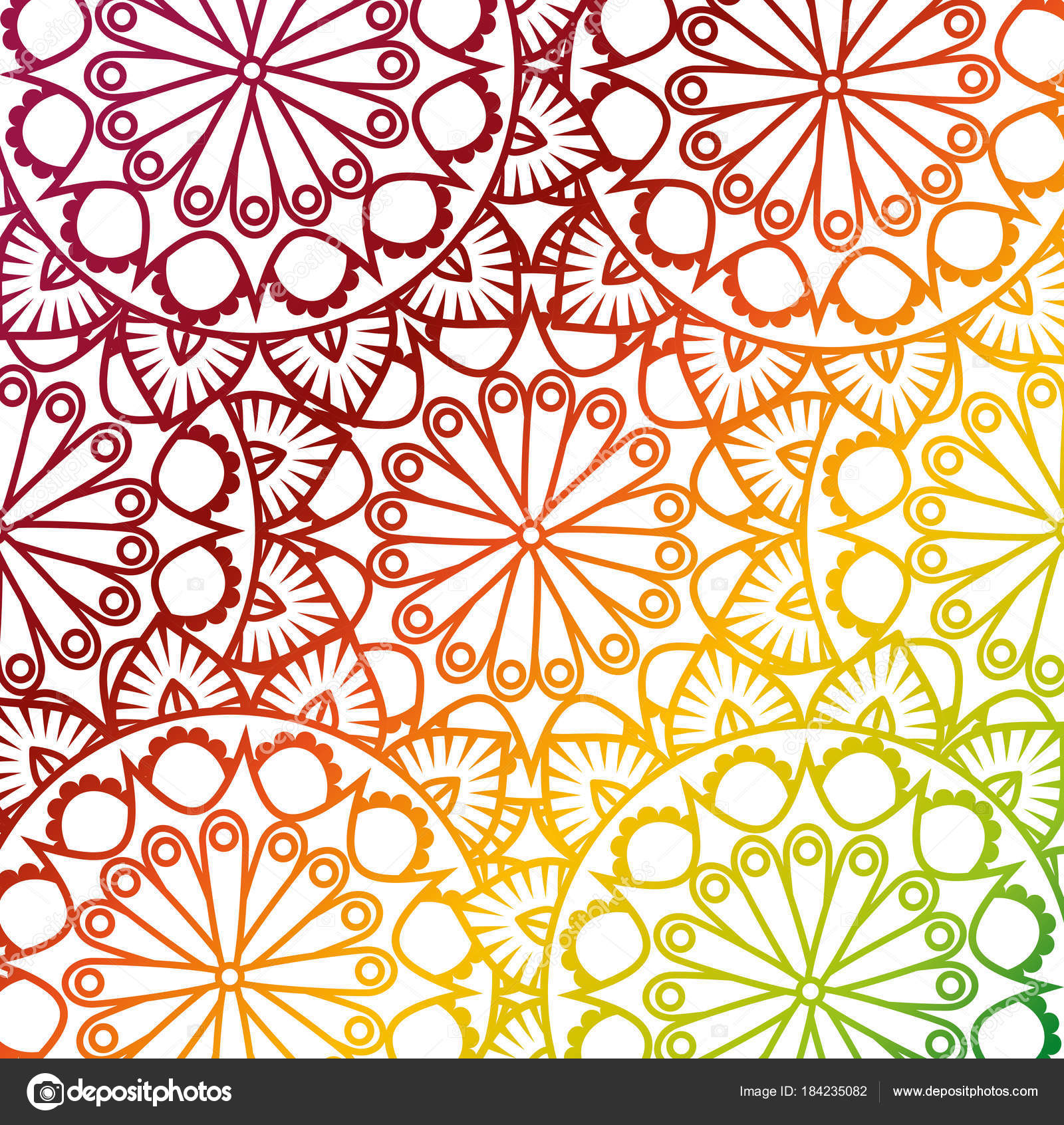 color mandala pattern background stock vector yupiramos 184235082
