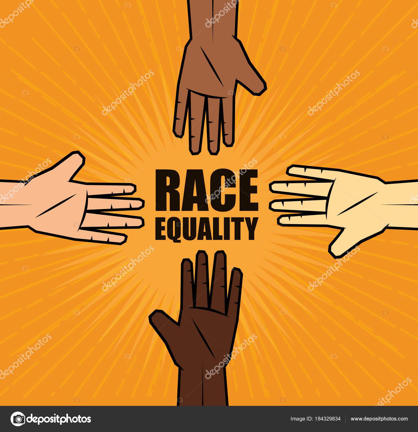 Racedesign Gleichheit — Stockvektor © yupiramos #184329834