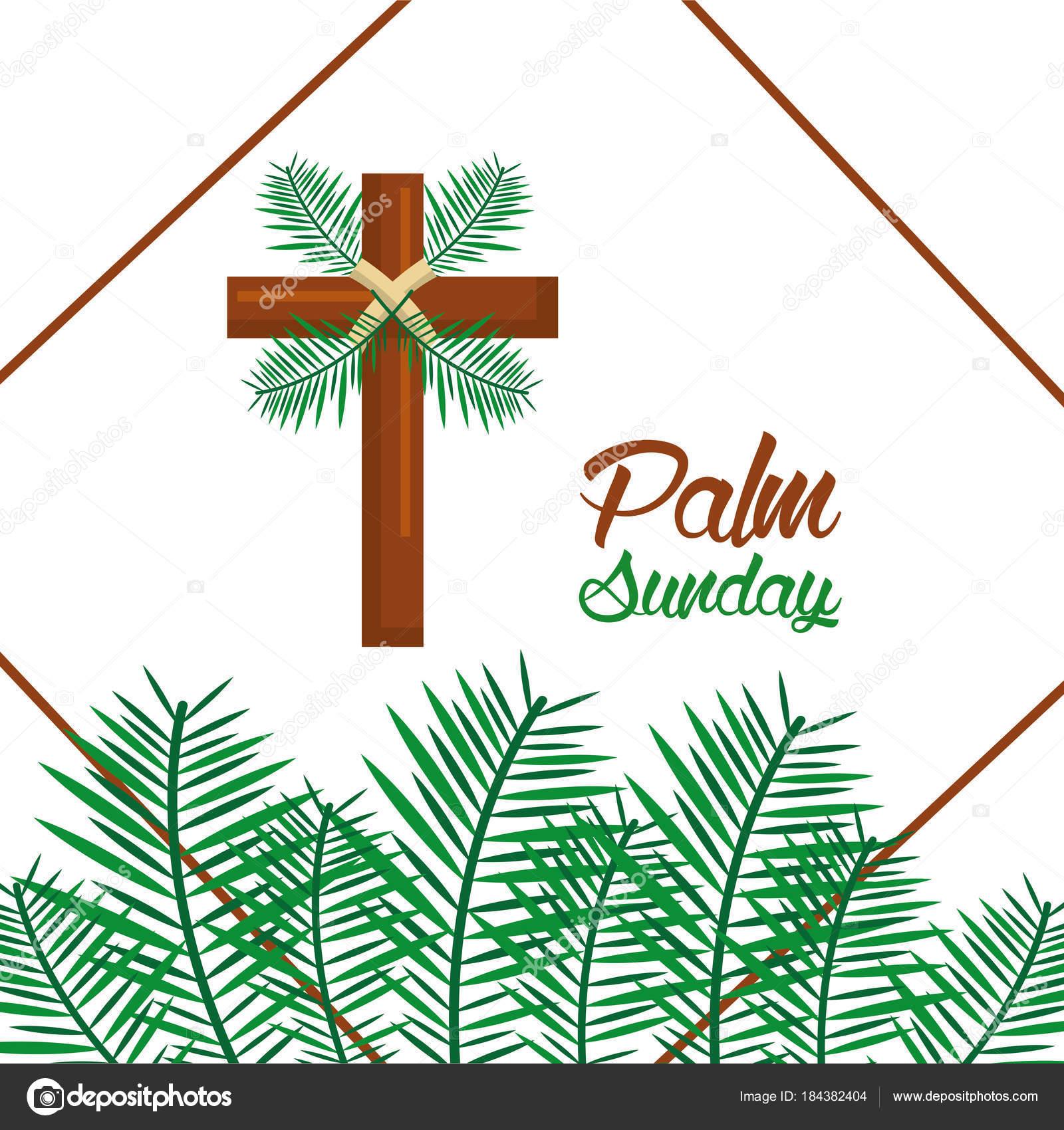 palm sunday happy easter celebration — stock vector © yupiramos